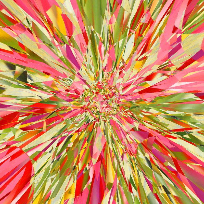 Coloré tournez la conception pour l'explosion d'effet de carte ou de bannière photo stock