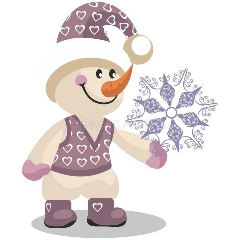 Color 10 del muñeco de nieve ilustración del vector