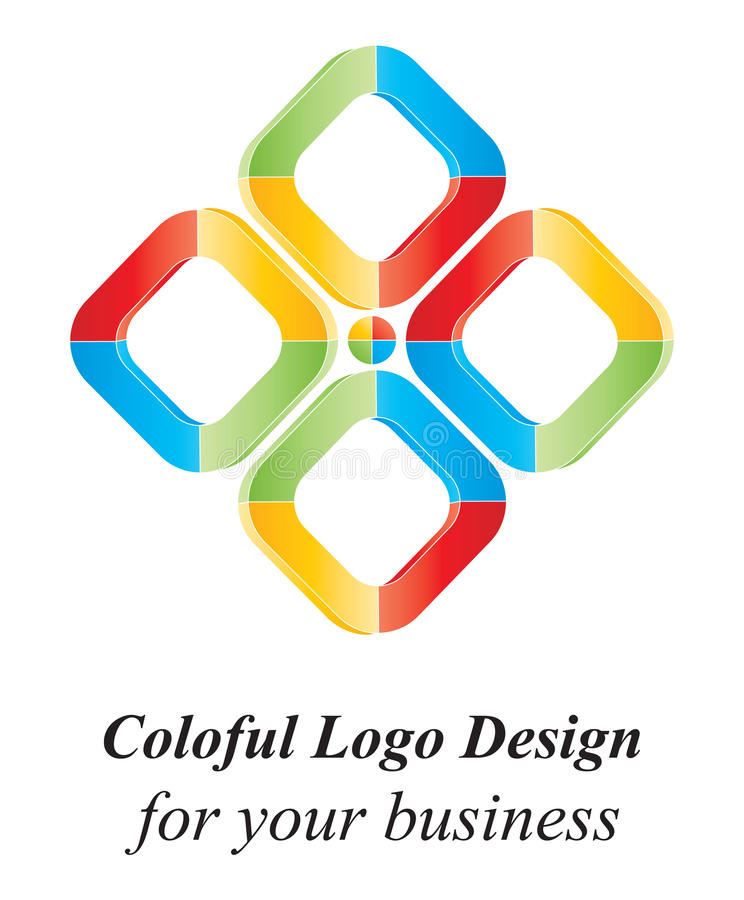 Download Color 3D logo design stock vector. Image of isolated - 19581855