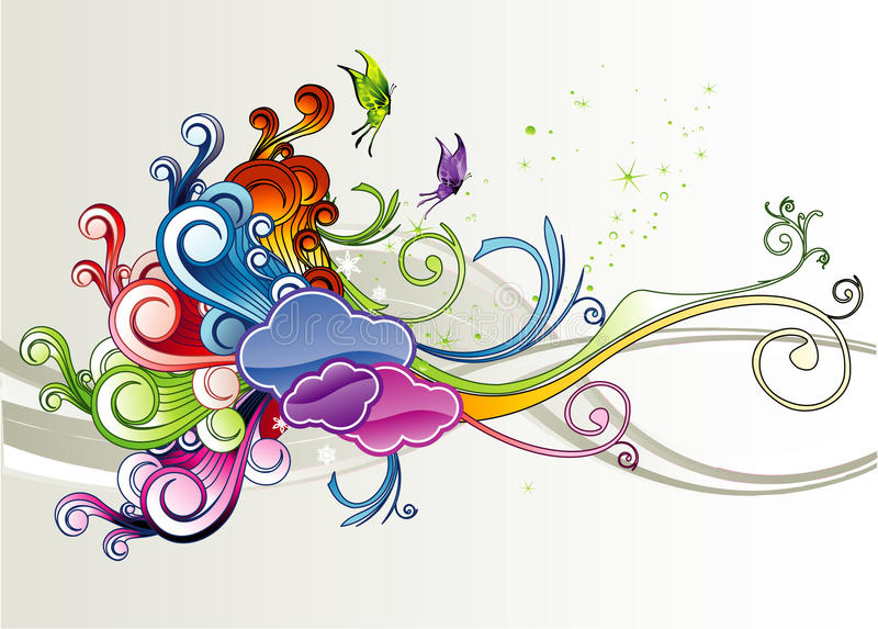 Color abstract stock illustration