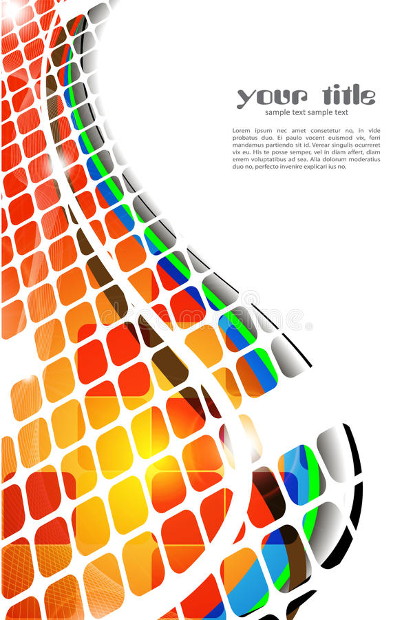 Color abstract background stock illustration