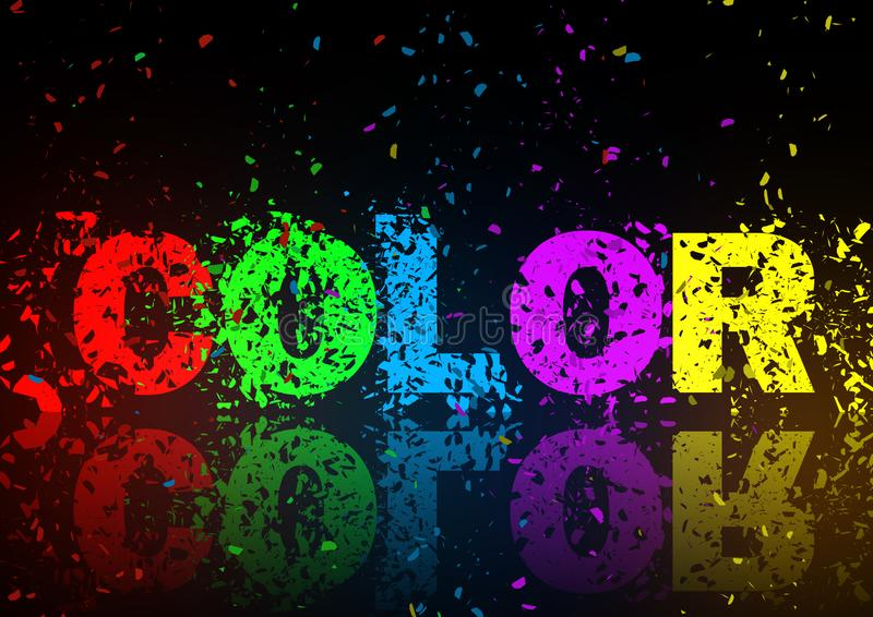 Color abstract background illustration. / art design element stock photography