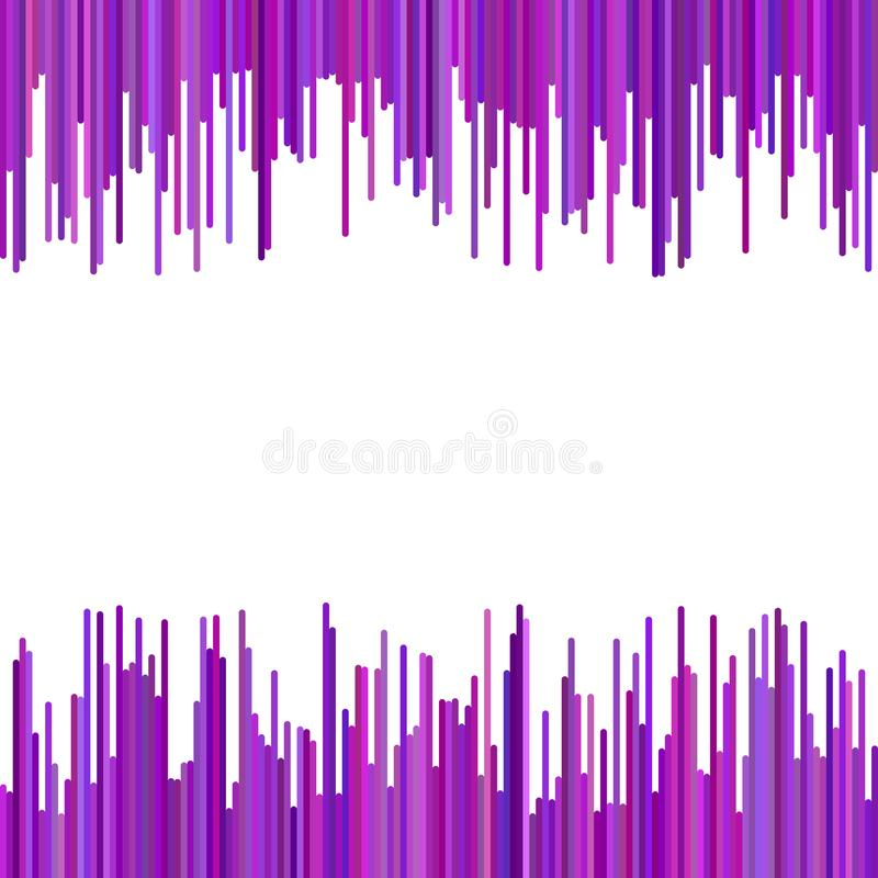 Color abstract geometrical background from vertical stripes in purple tones stock illustration