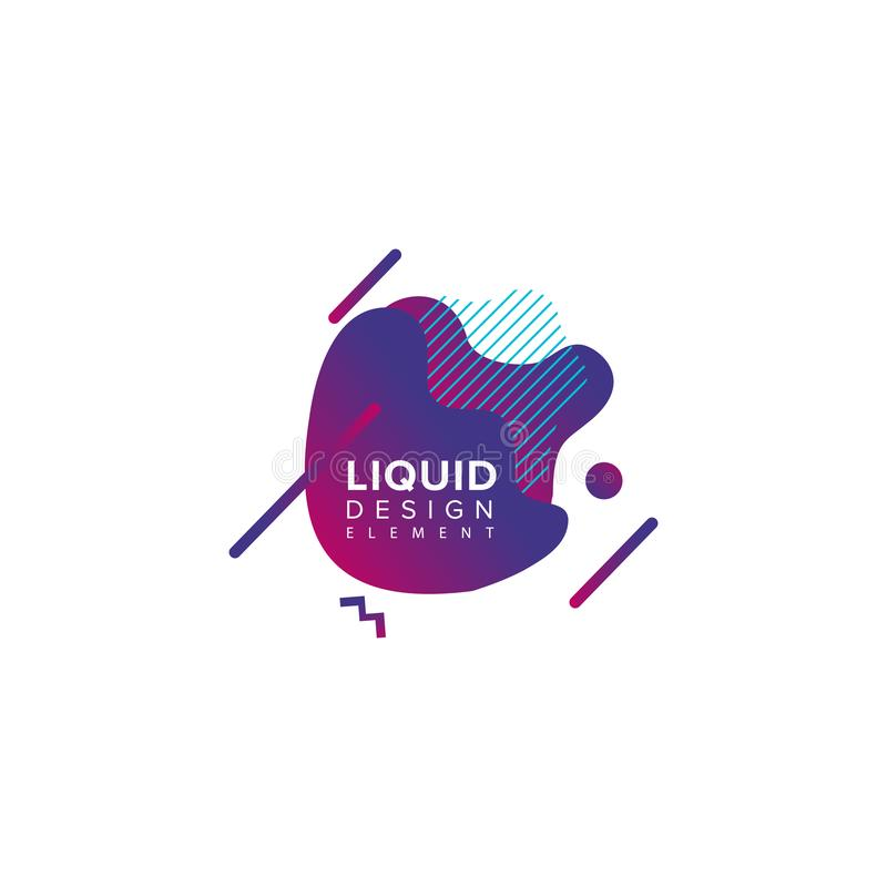 Color abstract liquid shape, fluid color overlap gradient background. Vector creative neon color design vector illustration