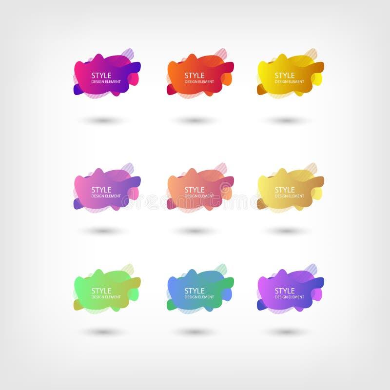 Color abstract liquid shape halftone patterns fluid color overlap gradient background. Vector creative neon color splash shapes. Design, EPS 10 - vector, Jpeg vector illustration