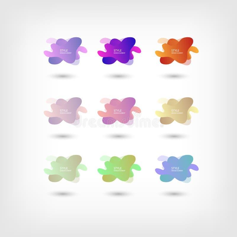 Color abstract liquid shape halftone patterns fluid color overlap gradient background. Vector creative neon color splash shapes. Design, EPS 10 - vector, Jpeg royalty free illustration