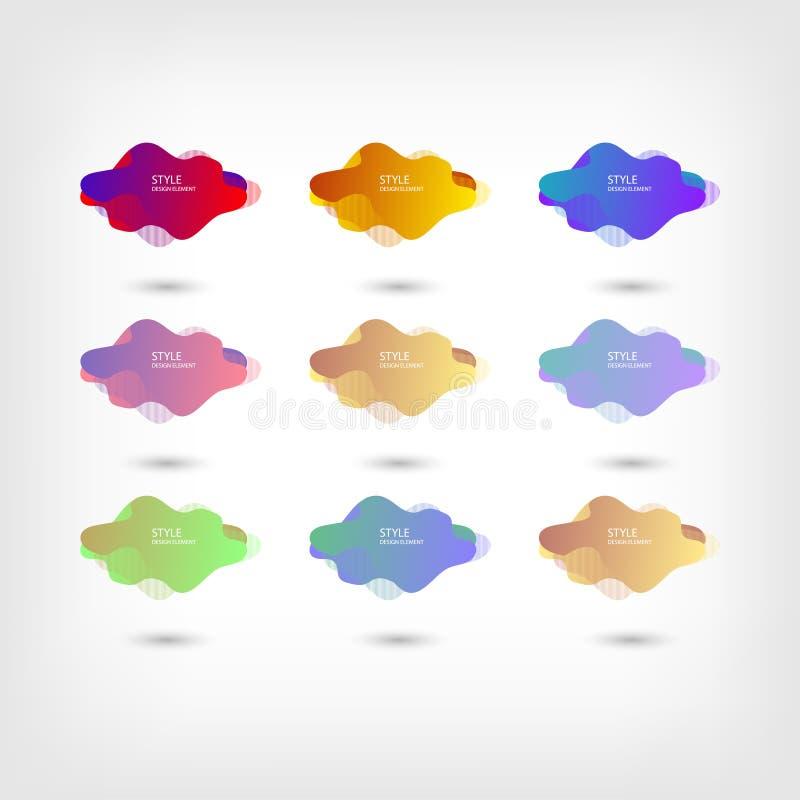 Color abstract liquid shape halftone patterns fluid color overlap gradient background. Vector creative neon color splash shapes. Design, EPS 10 - vector, Jpeg stock illustration