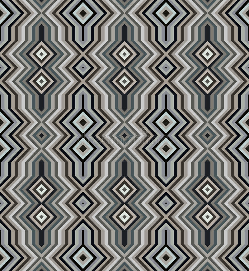 Color Abstract Retro Zigzag Vector Background royalty free illustration