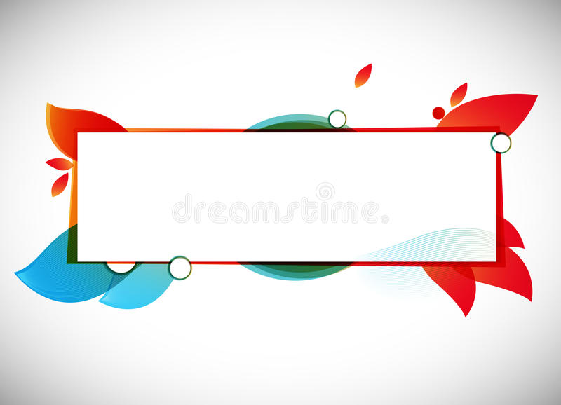 Color Abstract Vector Background Text Frame Stock Vector