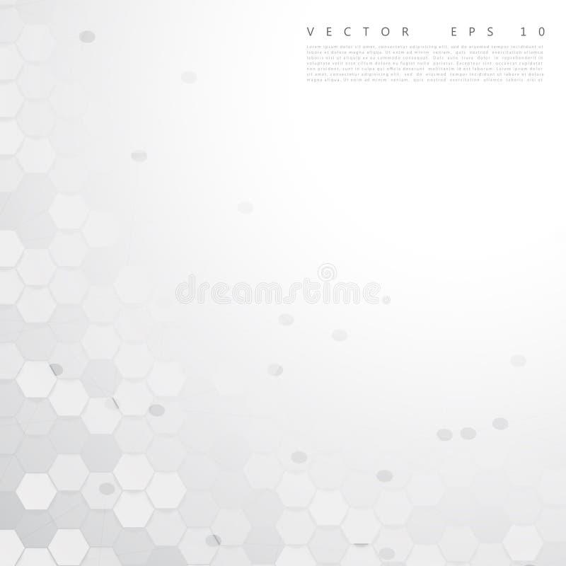 Color abstracto 3d del vector hexagonal ilustración del vector