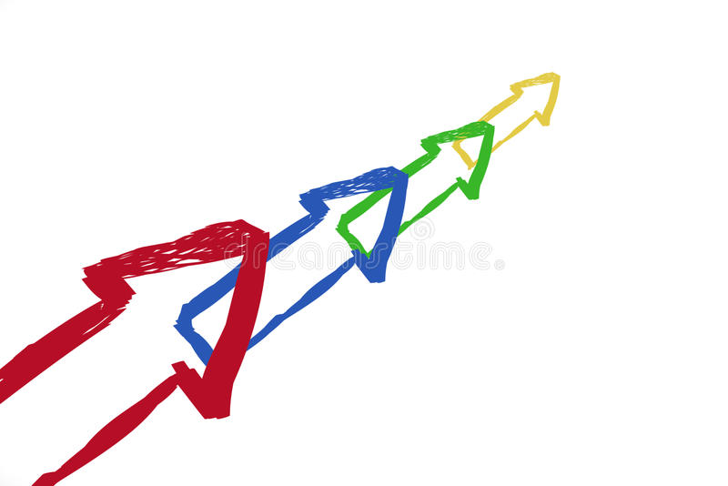 Download Color arrow stock illustration. Image of concept, direction - 11742229