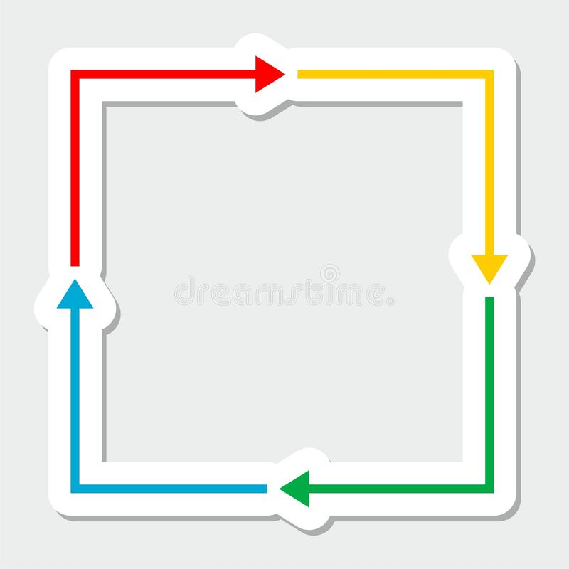 Color arrows. On gray background stock illustration