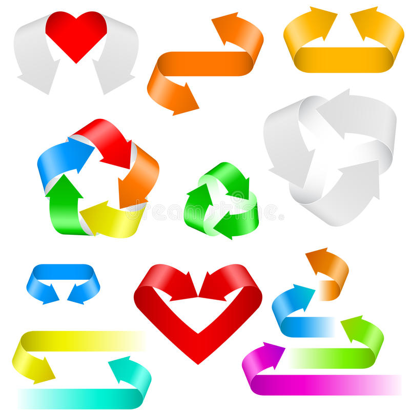 Download Color arrows icons stock vector. Image of connection - 22427290