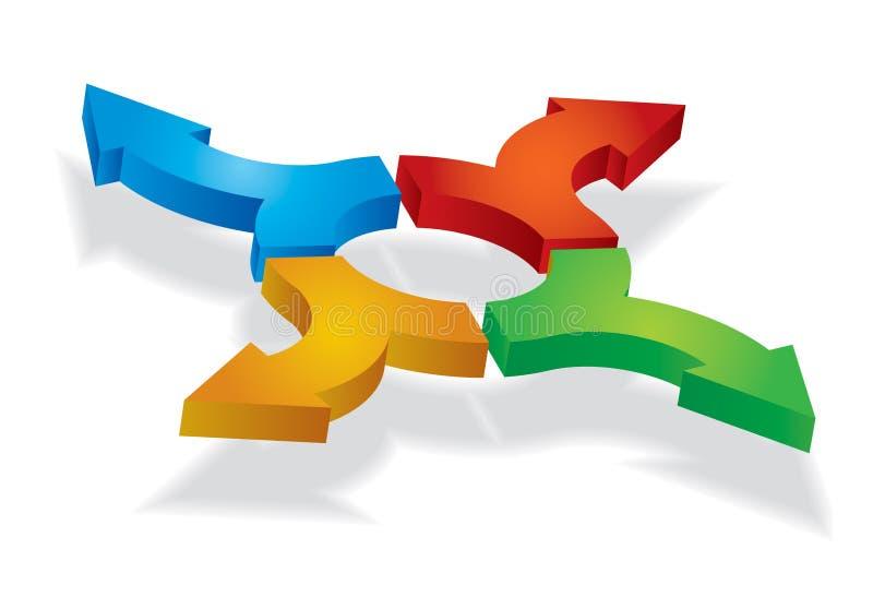 Color arrows. Illustration on white background for your design stock illustration