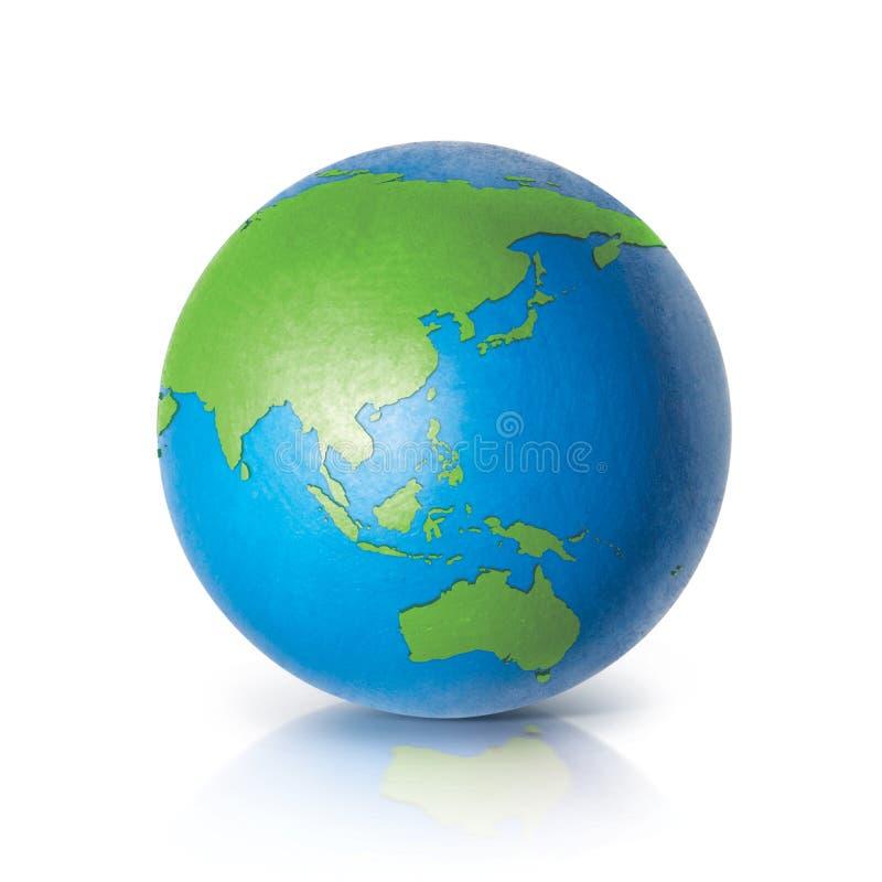 Color Asia & Australia world map. On white background royalty free stock image