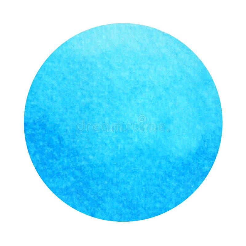Color azul del concepto de la garganta del símbolo del chakra, pintura de la acuarela stock de ilustración