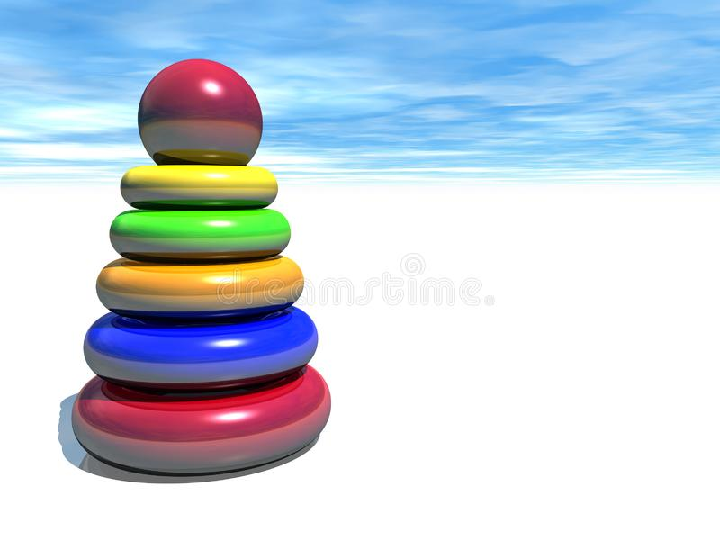 Color baby pyramid in sky royalty free stock photography