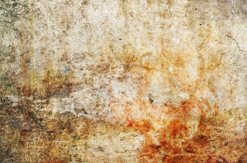 Color background. Grunge red blue and yellow painted on concrete wall. texture abstract for background. Vintage background with grunge texture cracks, remnants stock photography