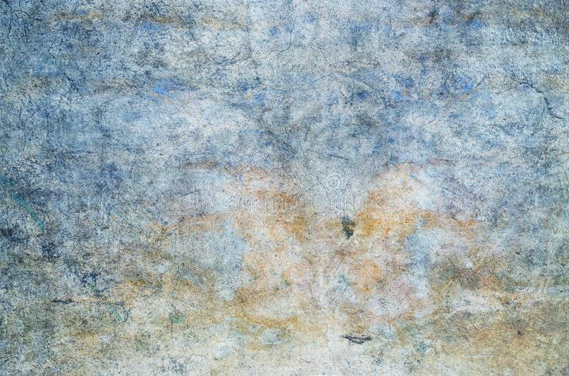 Color background. Grunge red blue and yellow painted on concrete wall. texture abstract for background. Vintage background with grunge texture cracks, remnants royalty free stock images