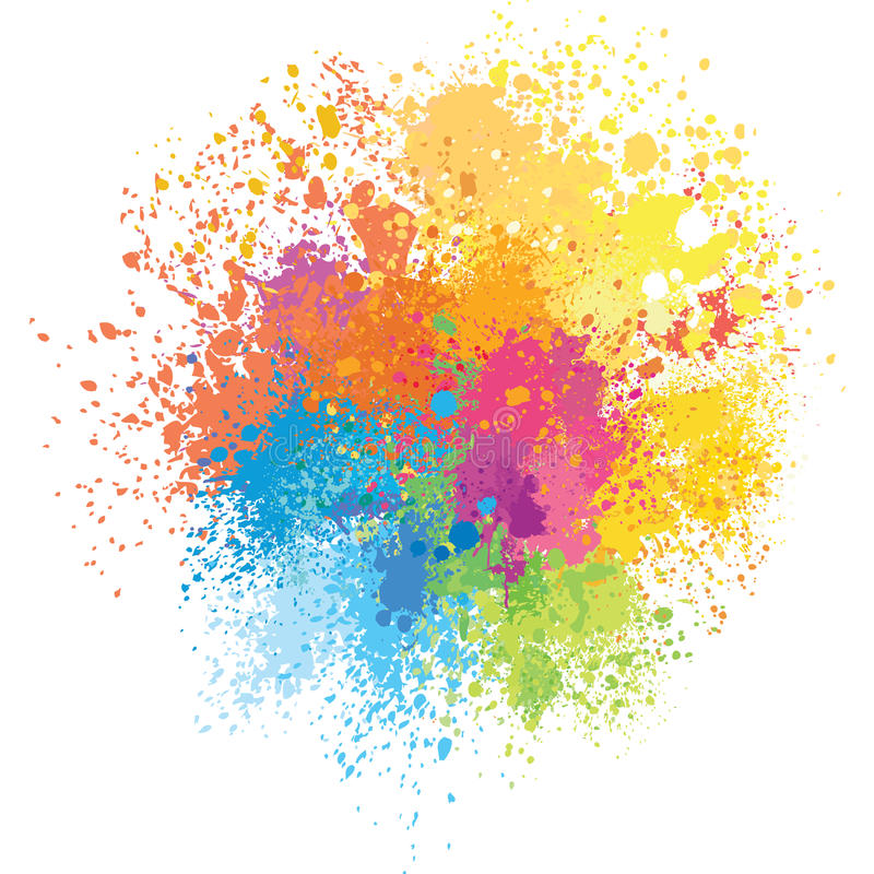 Free Color Background Of Paint Splashes Stock Photo - 66466280