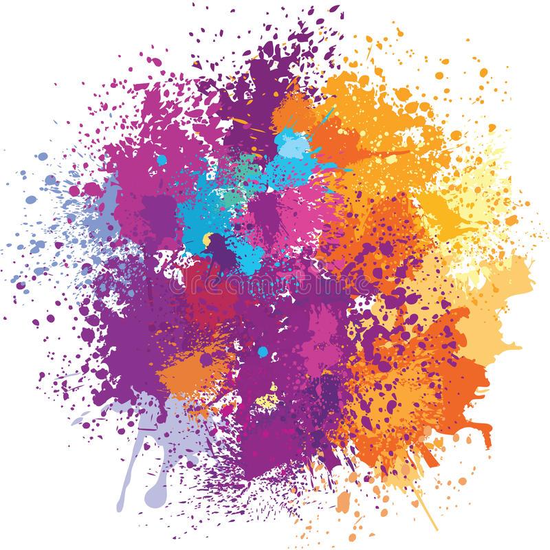 Free Color Background Of Paint Splashes Stock Image - 66558571