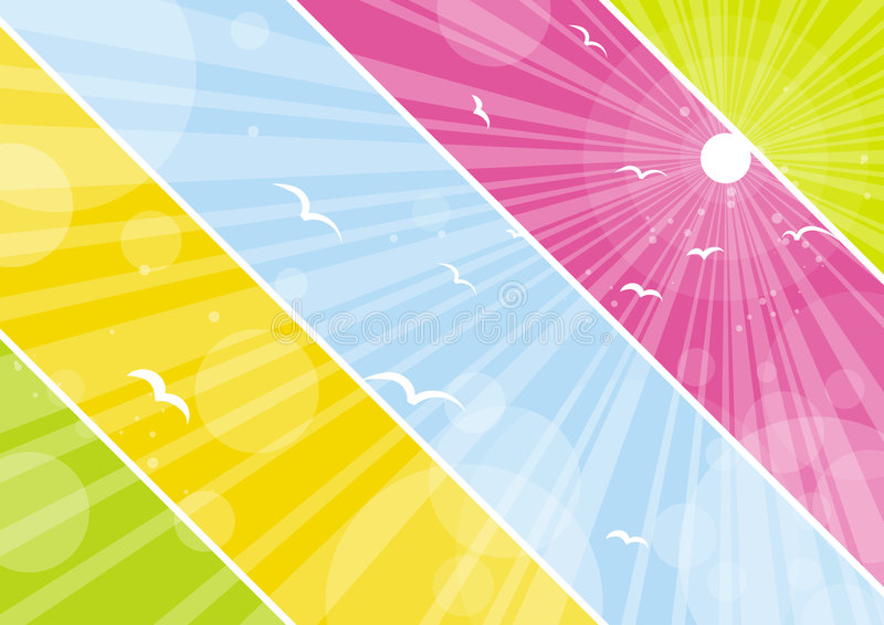 Color background, vector. Color background with lovely decorative circles vector illustration