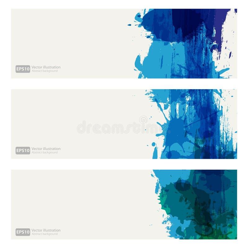 Color backgrounds set. Blue color backgrounds set for web stock illustration