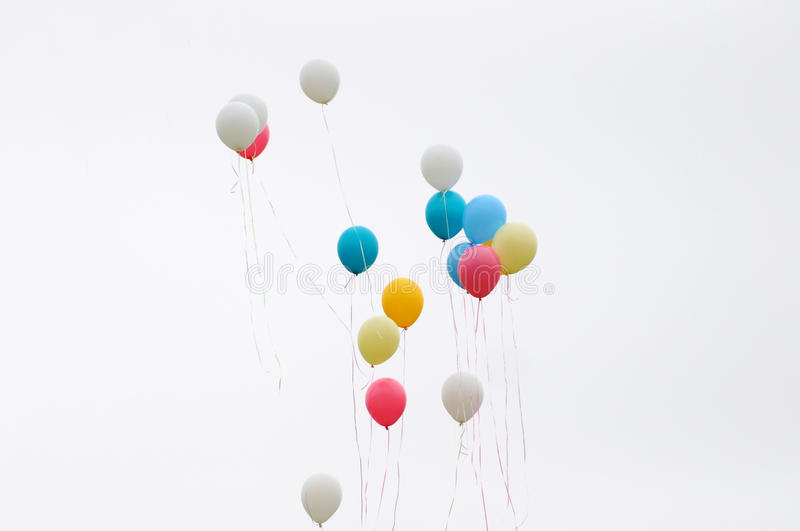 Color balloons royalty free stock images