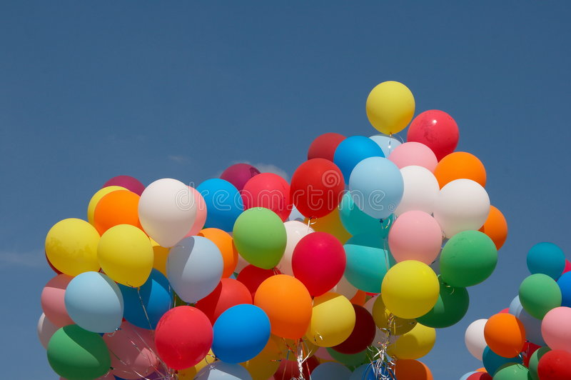 Download Color Balloons In Deep Blue Sky 3 Stock Image - Image: 6621013
