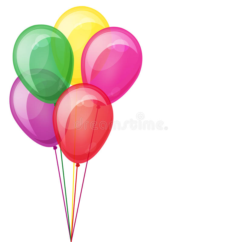 Color balloons floating. stock images