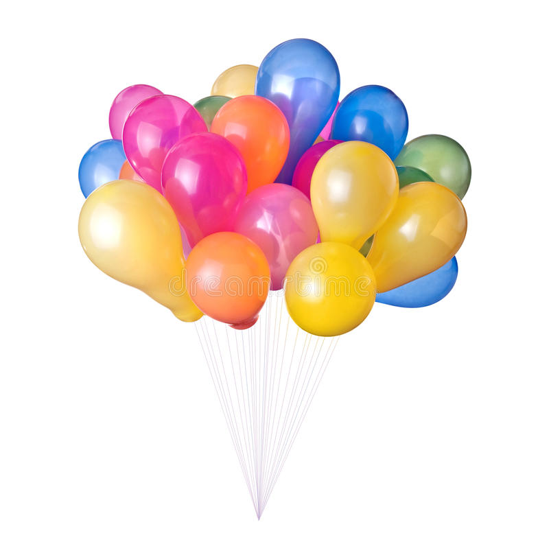 Free Color Balloons Isolated Stock Images - 14230944