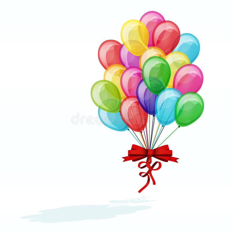 Color balloons isolated stock images