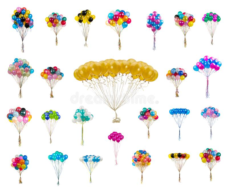 pastel color balloons royalty free stock image