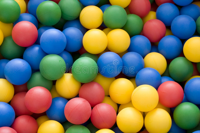 Color balls. Bright colors background stock photo