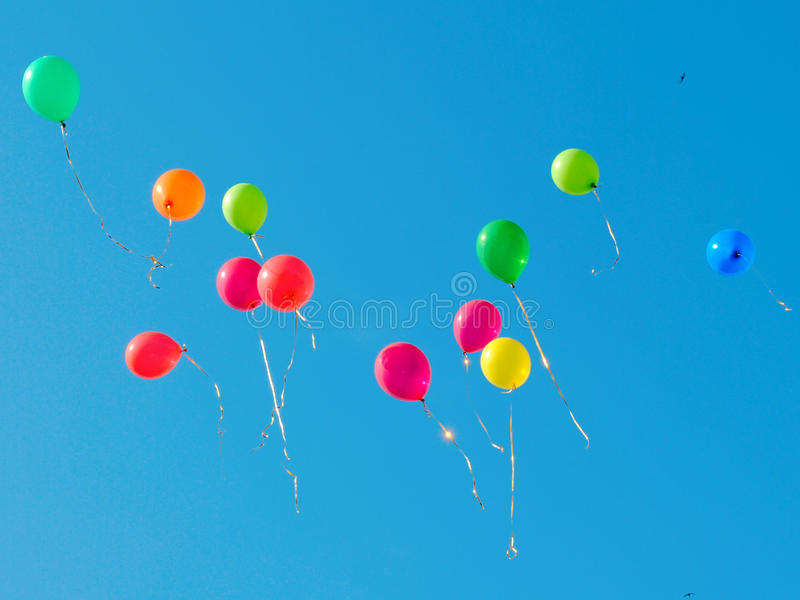 Color baloons 1 royalty free stock photos