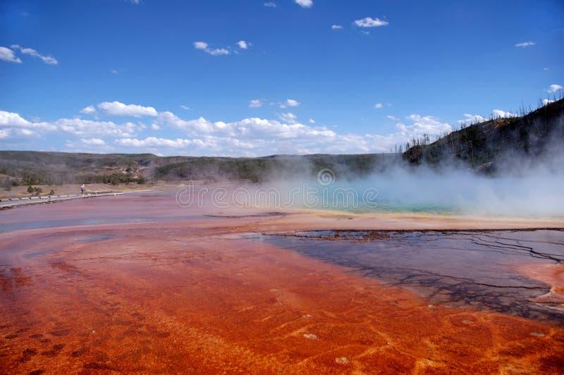 Color Bands, Mud Flats & Tourist stock photo