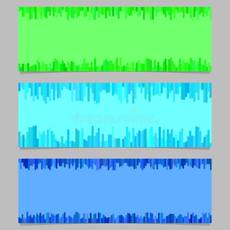 Color banner background design set - vector illustration from vertical stripes vector illustration