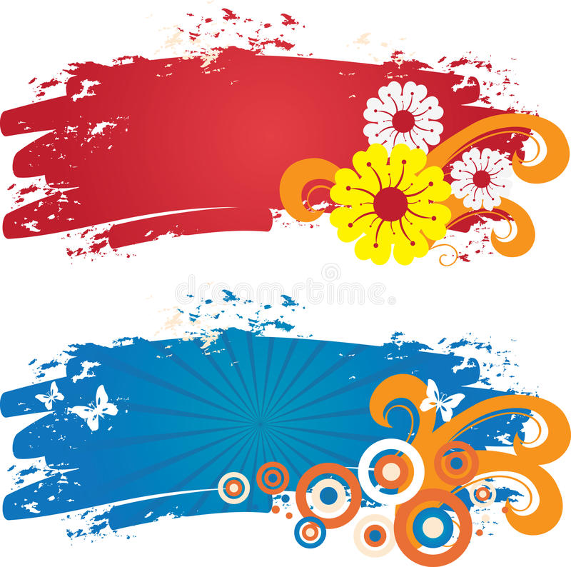 Download Color banners stock vector. Image of flower, grunge, drawing - 10323273