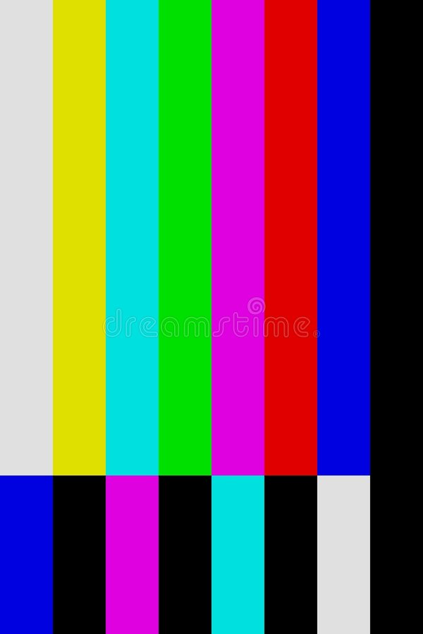 Download Color Bars Tv Off Air Screen Stock Illustration - Image: 535354