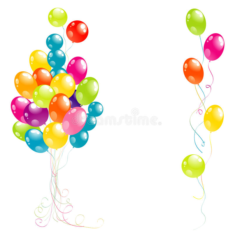 Download Color Beautiful Party Balloons Stock Vector - Image: 23561738