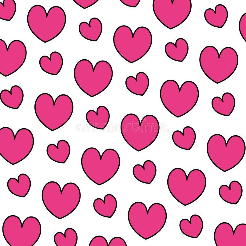 Color beauty heart romance symbol background. Vector illustration vector illustration