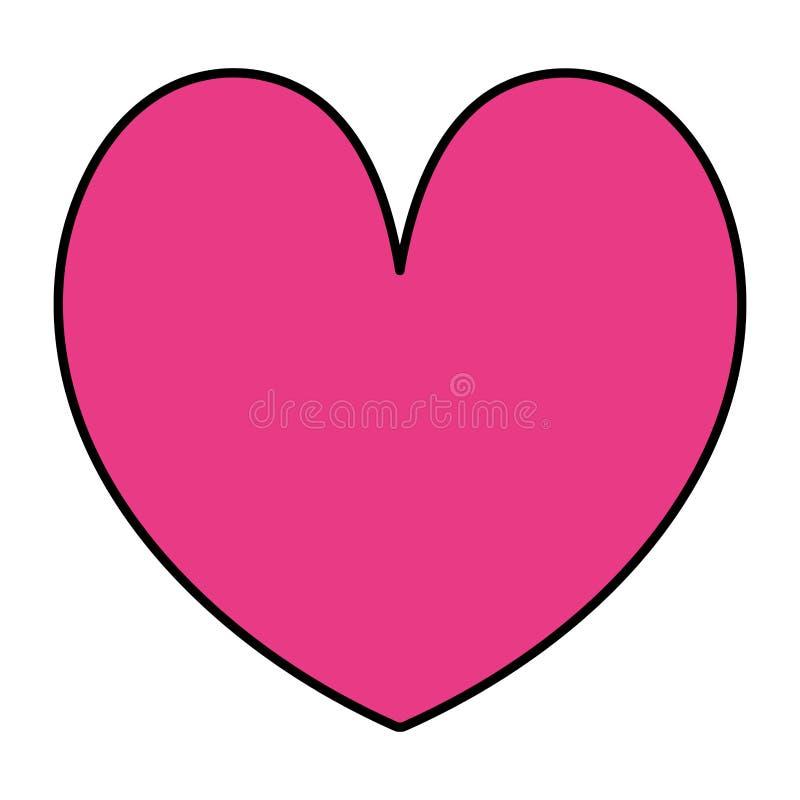 Color beauty heart romance symbol style. Vector illustration royalty free illustration