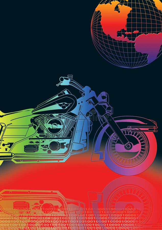 Download Color bike stock illustration. Image of biker, motorcycle - 2354335