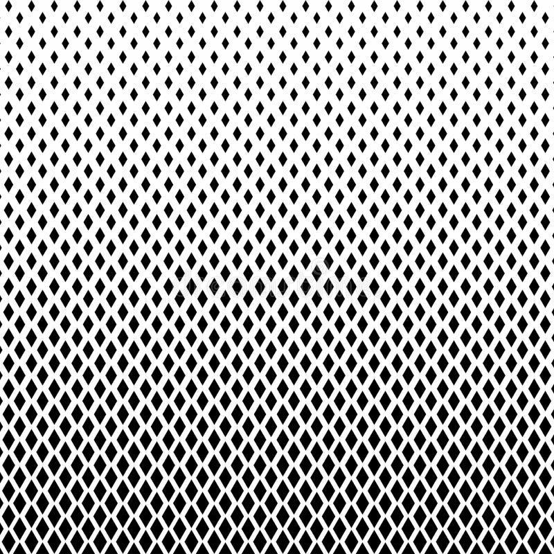 Color blanco y negro abstracto del golpeteo de semitono de las formas de los cuadrados fotos de archivo