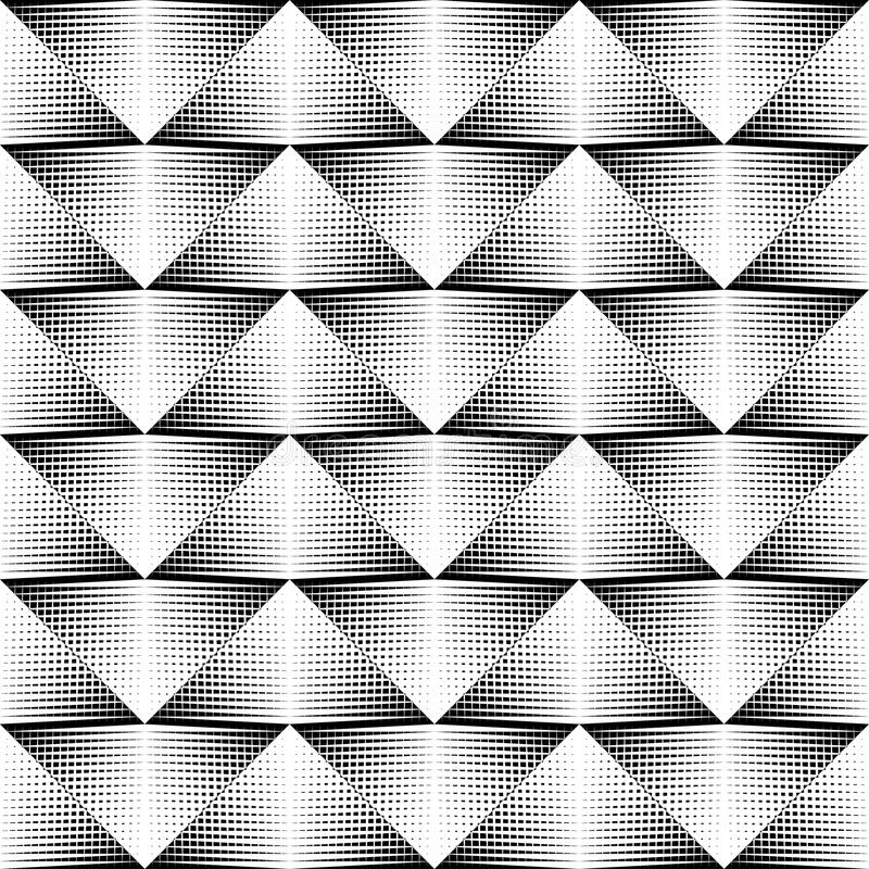 Color blanco y negro del modelo geométrico libre illustration