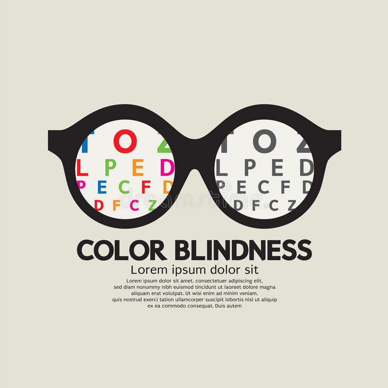 Color Blindness Concept stock illustration