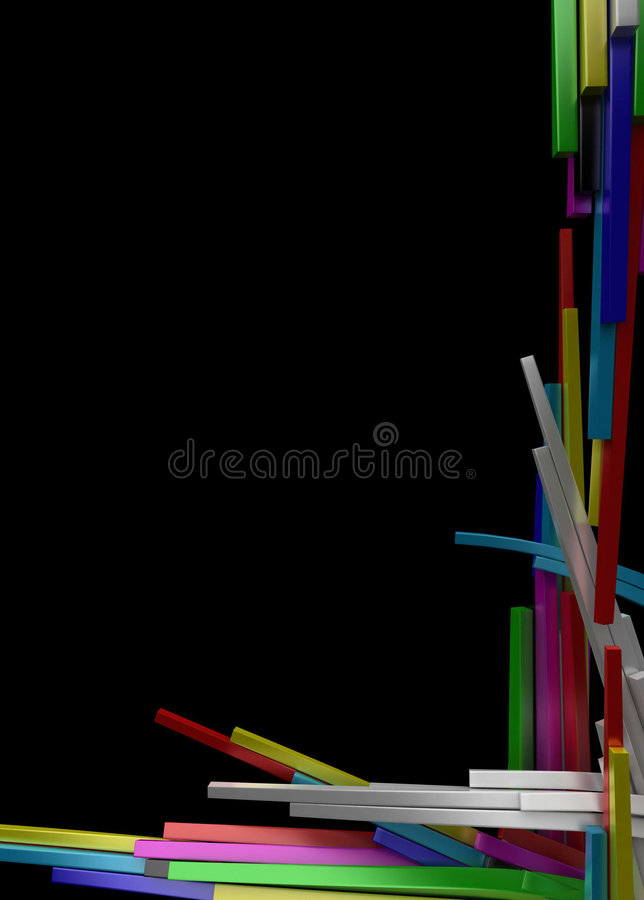 Color Block Growth Background vector illustration