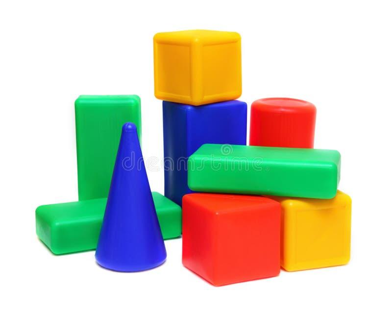 Color blocks - meccano toy royalty free stock image