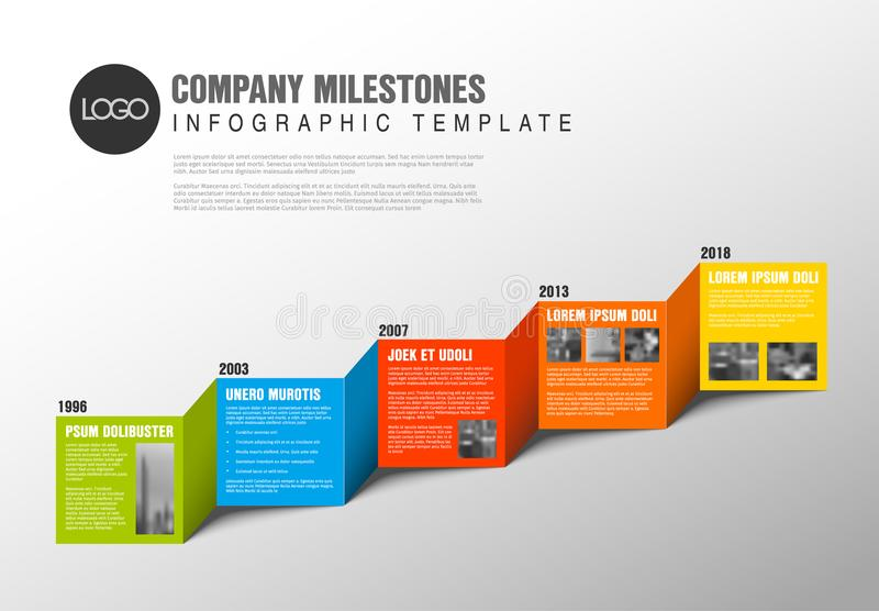 Color Blocks Timeline Template Stock Vector  Illustration Of