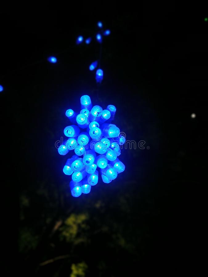 Color of blue by lights in nights. Color stock photos